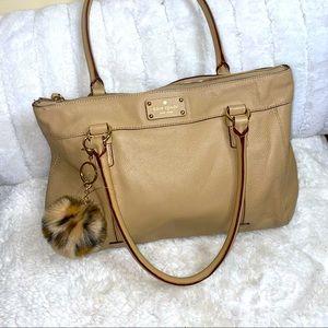 Kate Spade Butter Tan medium leather satchel